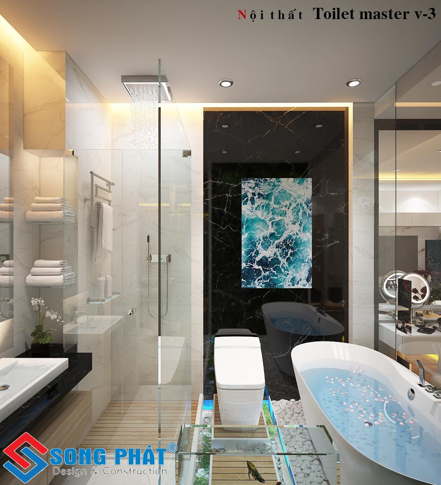 Nhà tắm trong phòng ngủ master.