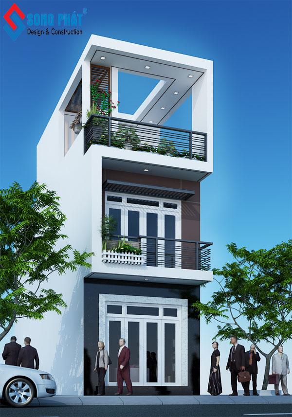 nhà phố 3 tầng đơn giản