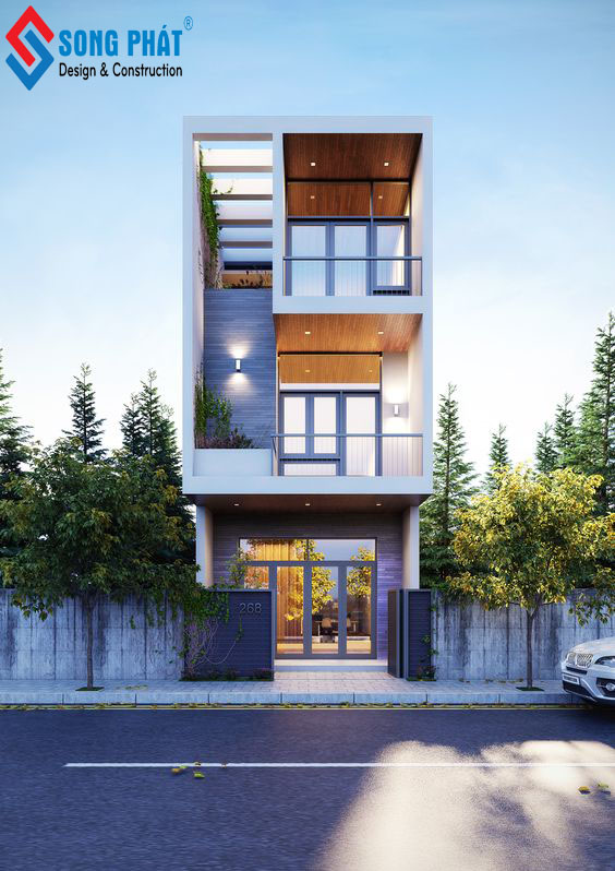mẫu nhà phố 3 tầng sang trọng