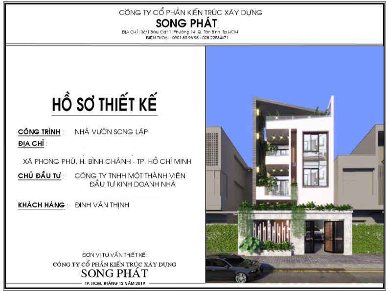 Hồ sơ thiết kế nhà của Song Phát.
