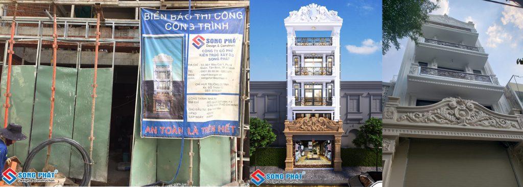 Mẫu nhà tân cổ điển Song Phát thi công trọn gói.