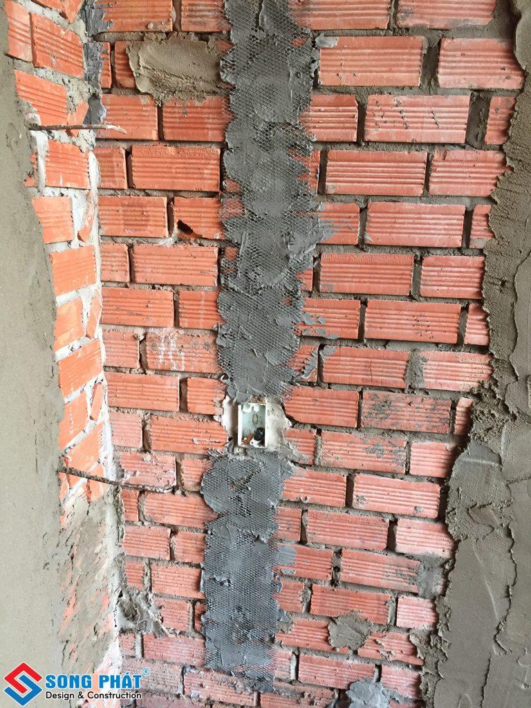 Sử dụng lưới mắt cáo để bảo vệ tường.