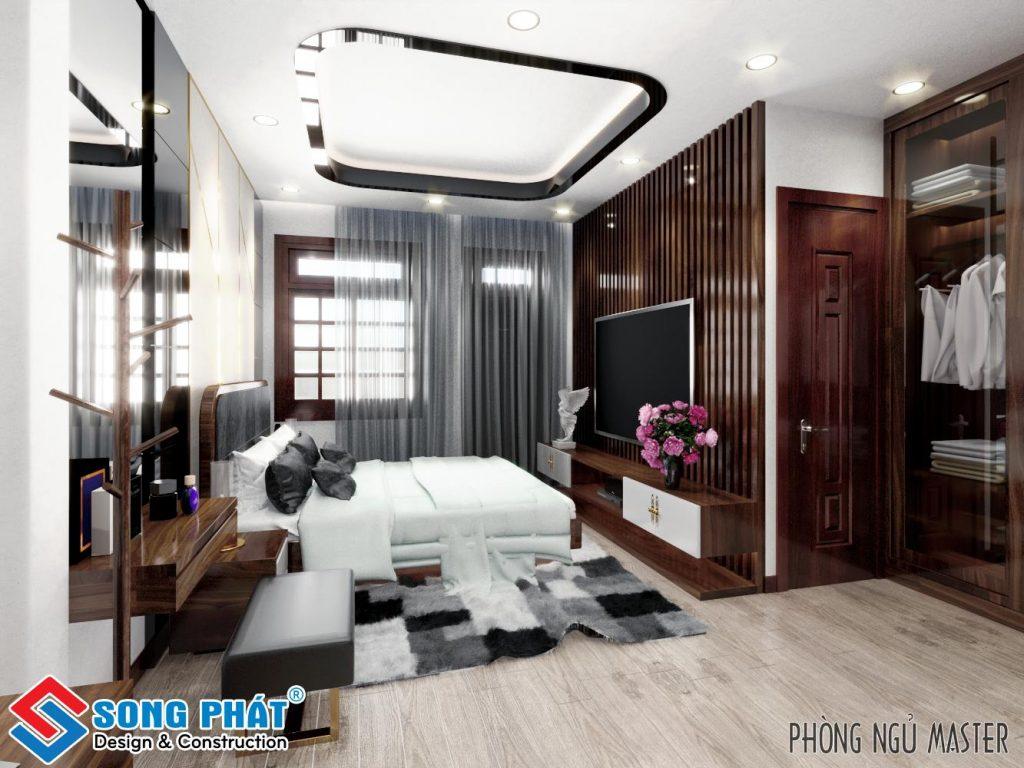 Thiết kế phòng khách với gỗ gõ đỏ 2.