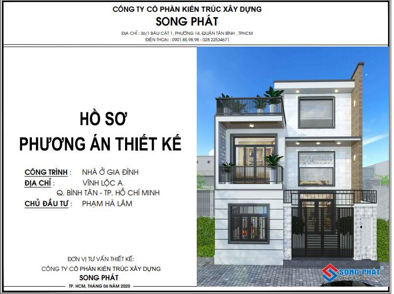Hồ sơ thiết kế nhà.
