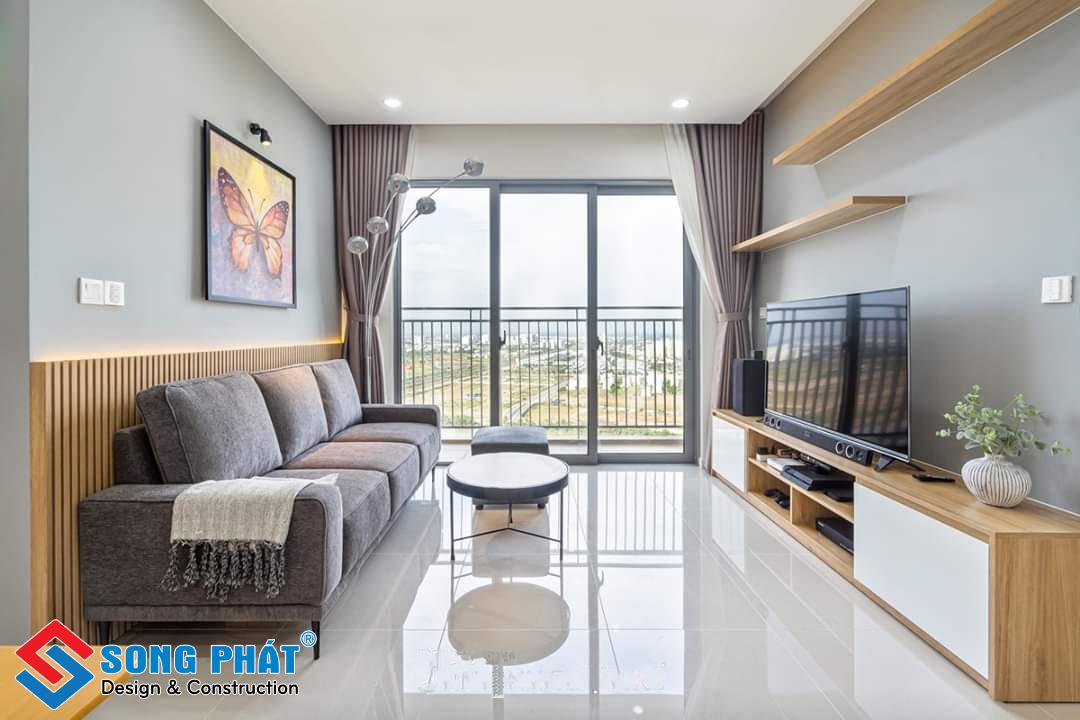 Thiết kế nội thất phòng khách chung cư đẹp hiên đại