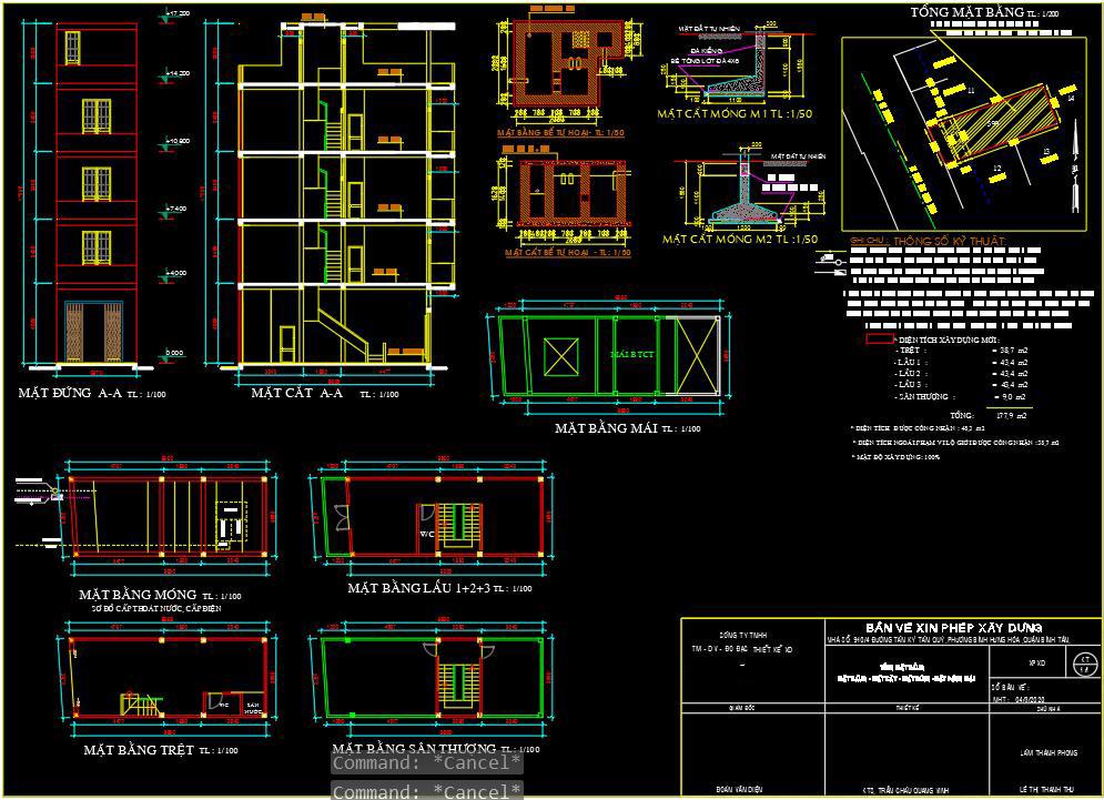 Quy trình thiết kế nhà bước 6 là xin giấy phép xây dựng.