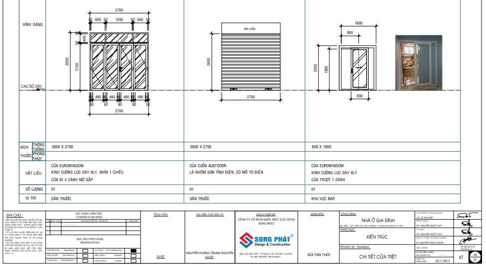 Bốc khối lượng báo giá chi tiết theo hồ sơ thiết kế.