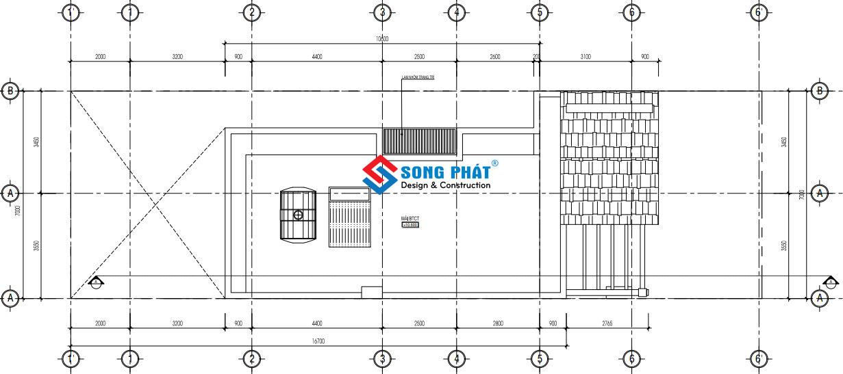 Thiết kế mái thái cho nhà 7x23m.