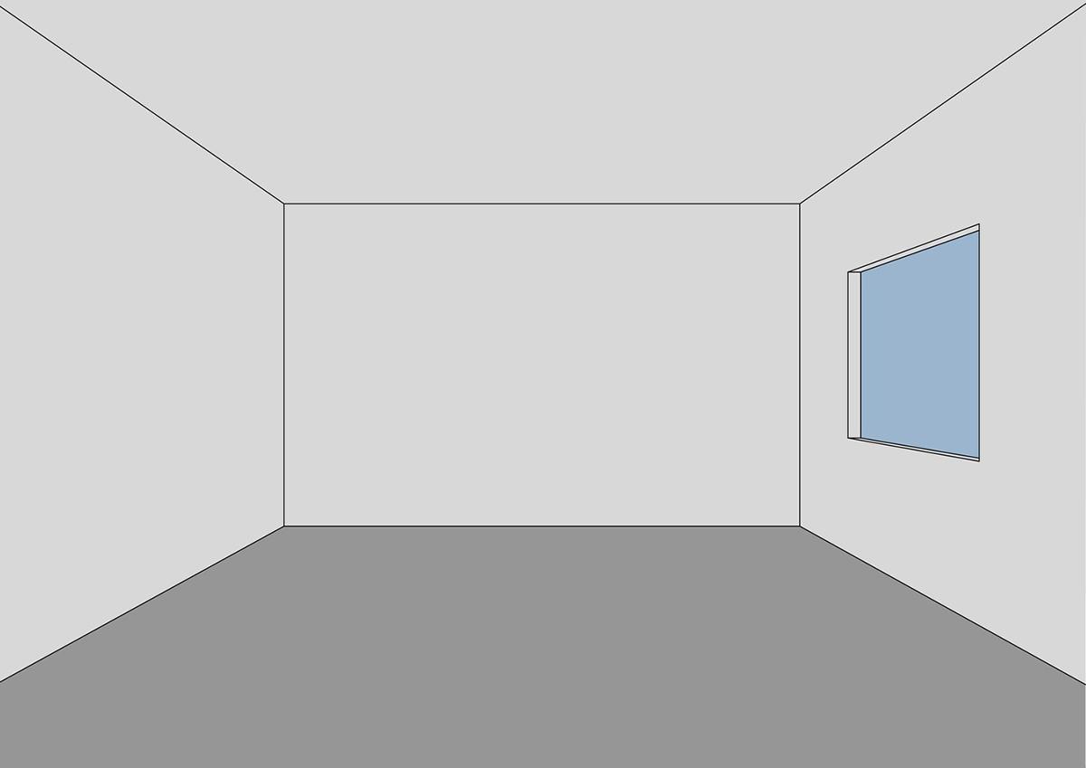 thay đổi không gian nới rộng phòng bằng màu sắc của sơn.