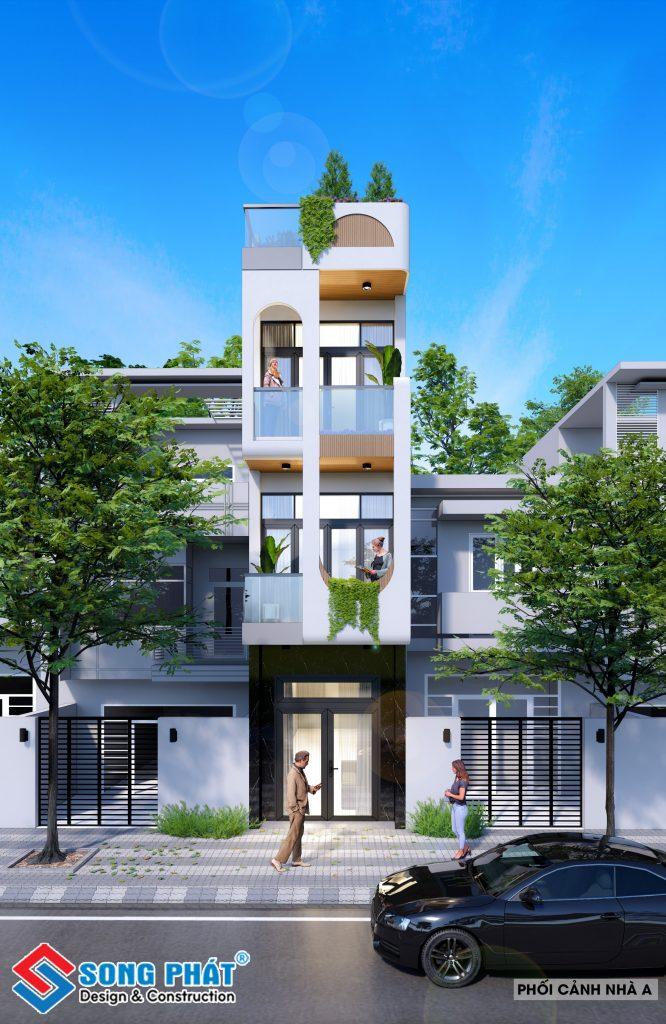 thiết kế kiến trúc nhà theo yêu cầu