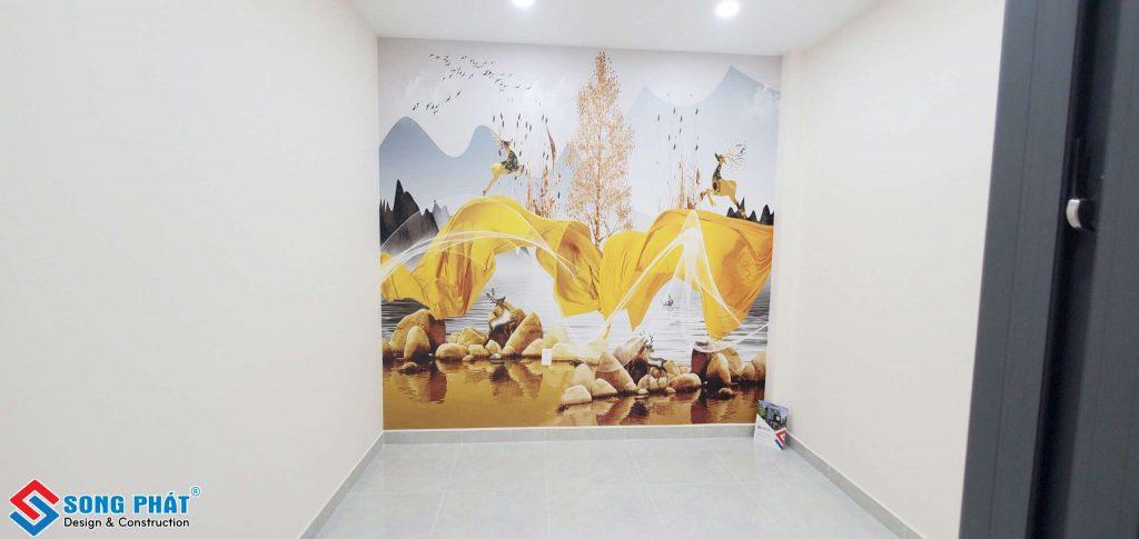 vật liệu ốp tường bằng giấy dán