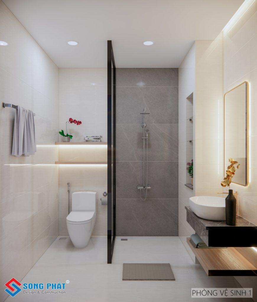Nhà vệ sinh cho nhà phố nhỏ