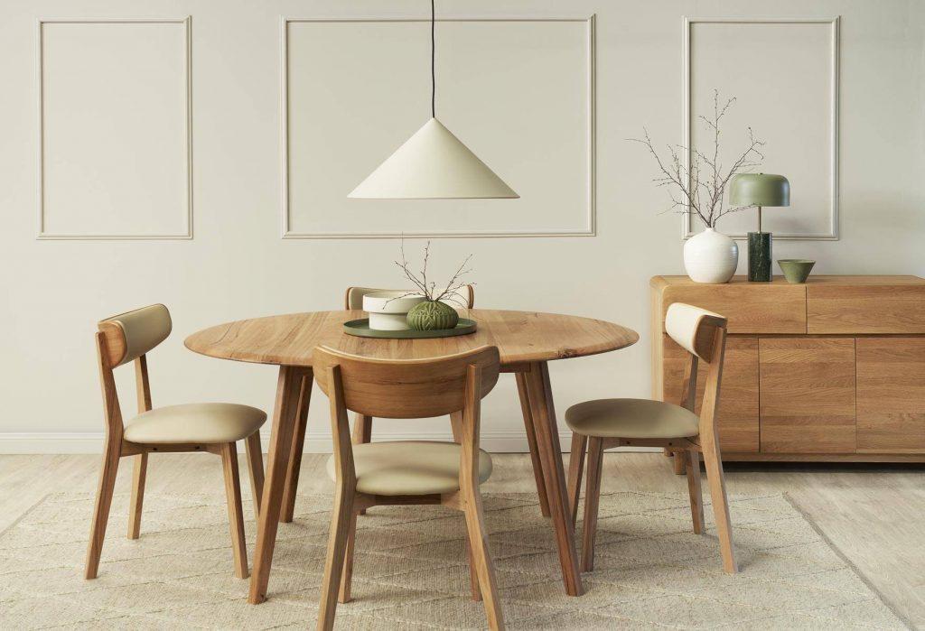 thiết kế bàn ăn tròn phòng bếp